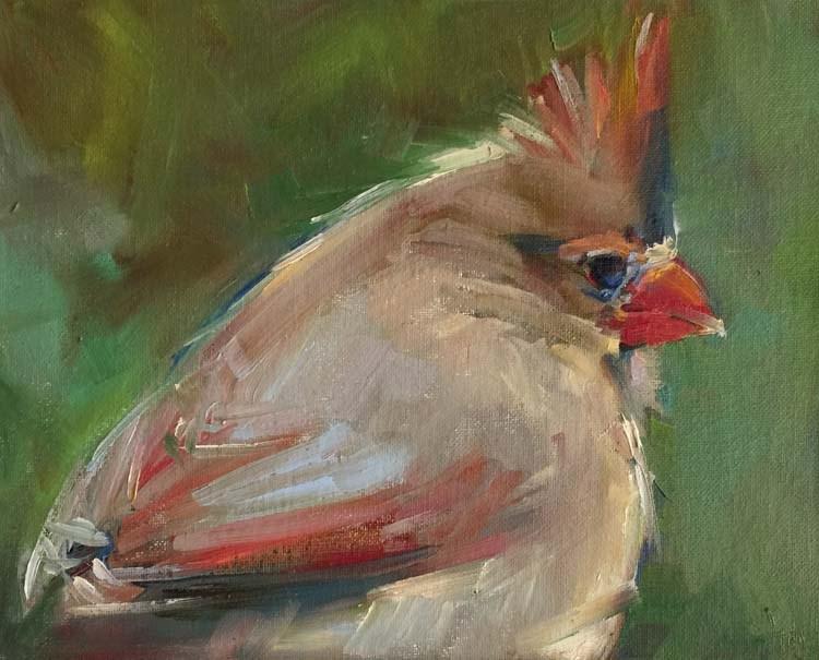 """Mrs. Claws"" original fine art by Patti McNutt"