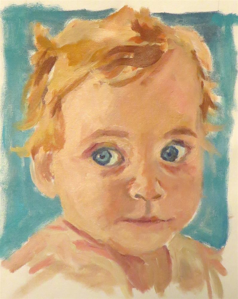 """""""732 Baby Queen Bee"""" original fine art by Diane Campion"""
