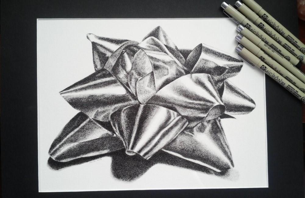 """Bow"" original fine art by Camille Morgan"