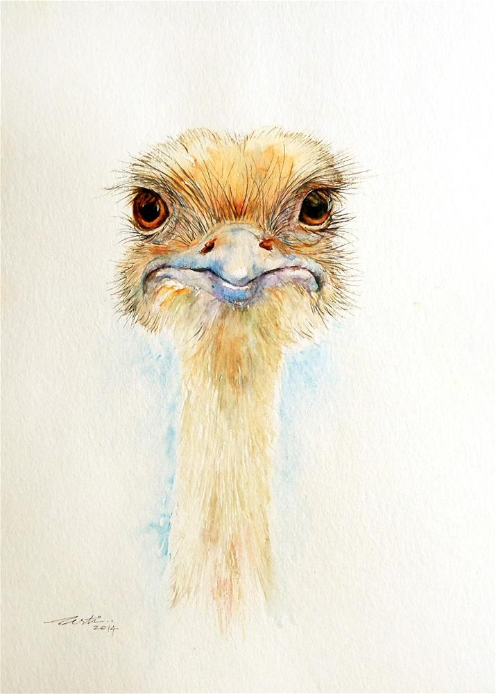 """The Ostrich-Look Over"" original fine art by Arti Chauhan"