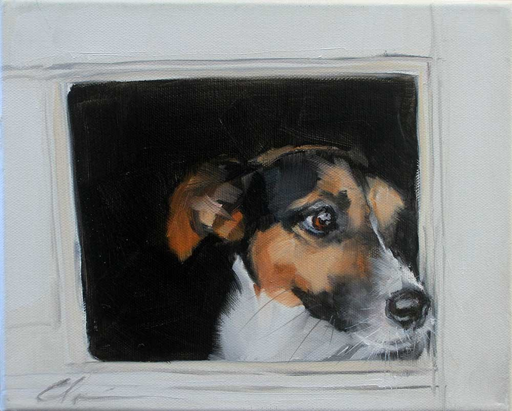 """The Daily Dog - Twenty Eight"" original fine art by Clair Hartmann"