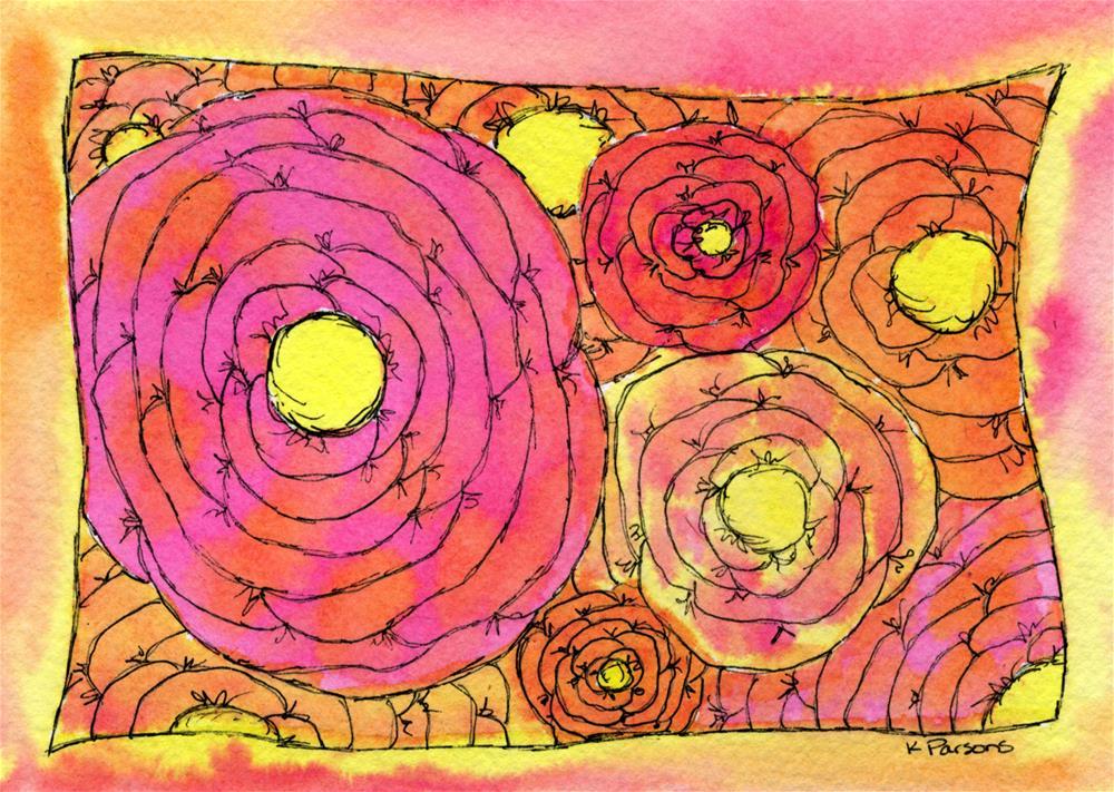 """""""Flowers on Fire"""" original fine art by Kali Parsons"""