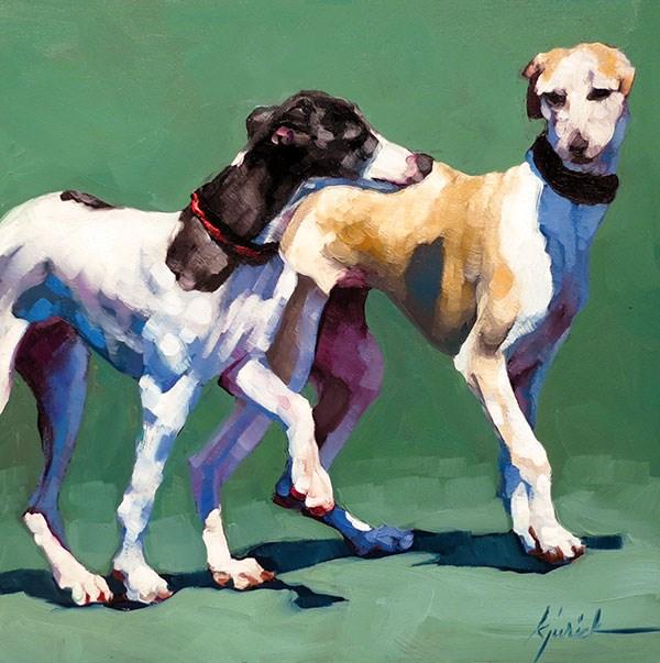 """Dog Show No. 8"" original fine art by Karin Jurick"