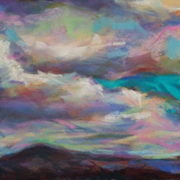 """LULL - 4 1/2 x 4 1/2 pastel by Susan Roden"" original fine art by Susan Roden"