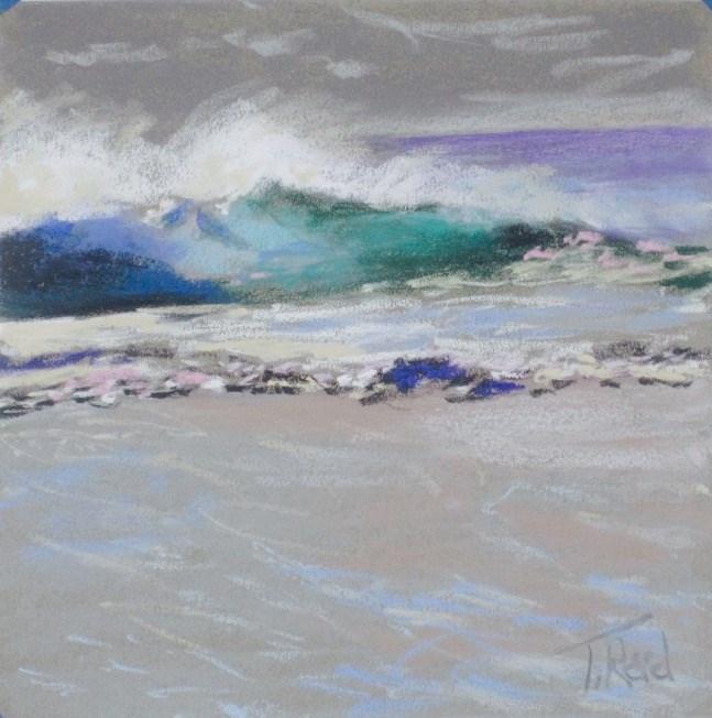 """""""Breaking Off Shore"""" original fine art by Toby Reid"""