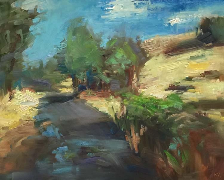 """""""I Lichen Mt. Pisgah"""" original fine art by Patti McNutt"""