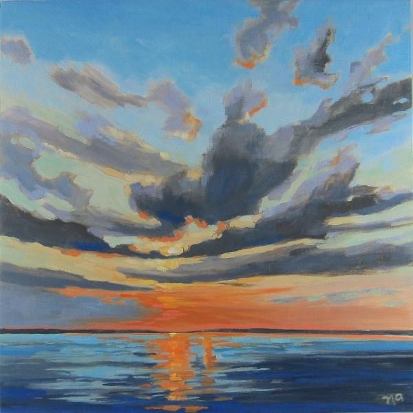 """Sun-Kissed Clouds"" original fine art by Nicki Ault"
