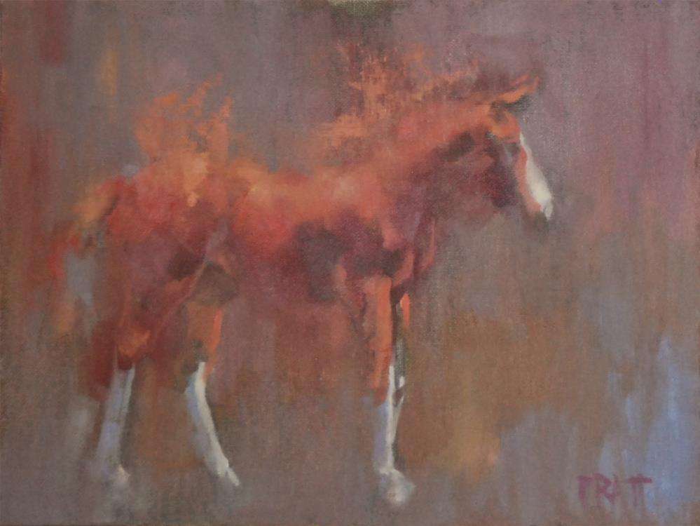 """Wildfire"" original fine art by Jennifer Pratt"