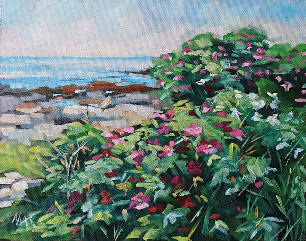 """""""Casco Bay Blooms"""" original fine art by Mary Anne Cary"""