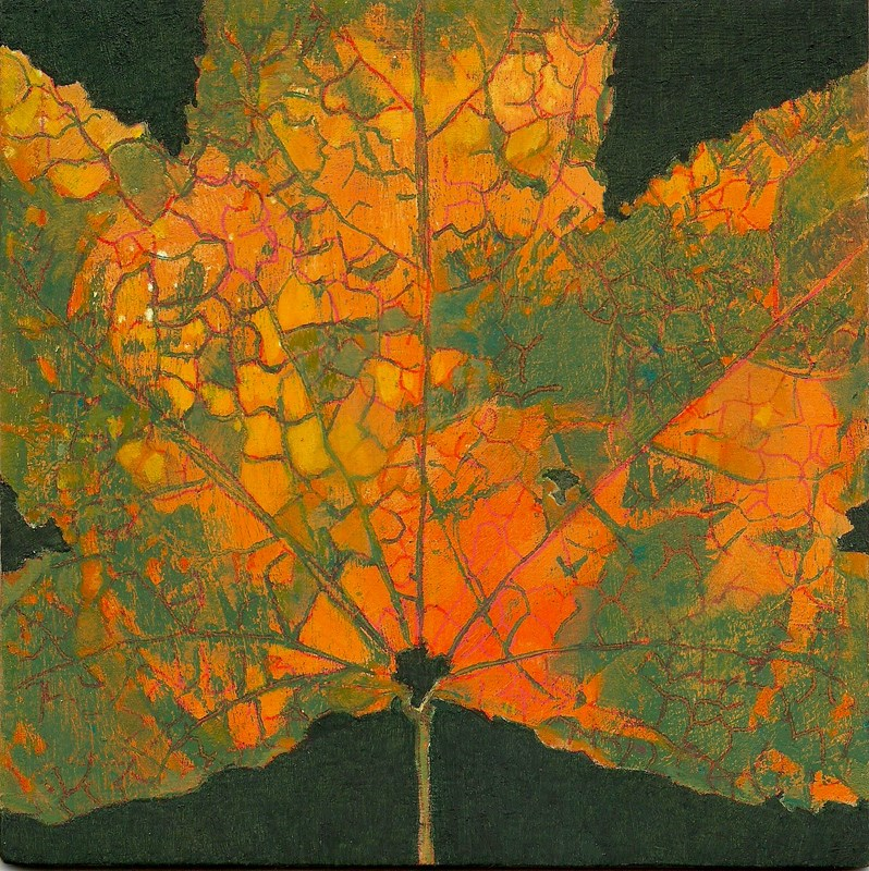 """""""Autumn Leaf #4"""" original fine art by Carol L Adamec"""