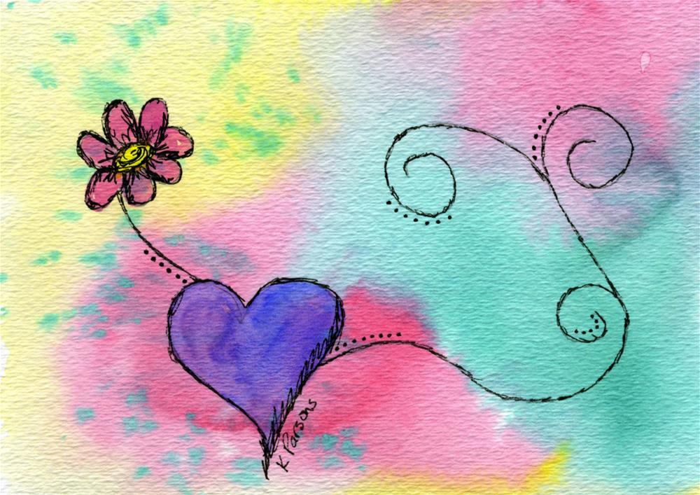 """Flower Love"" original fine art by Kali Parsons"