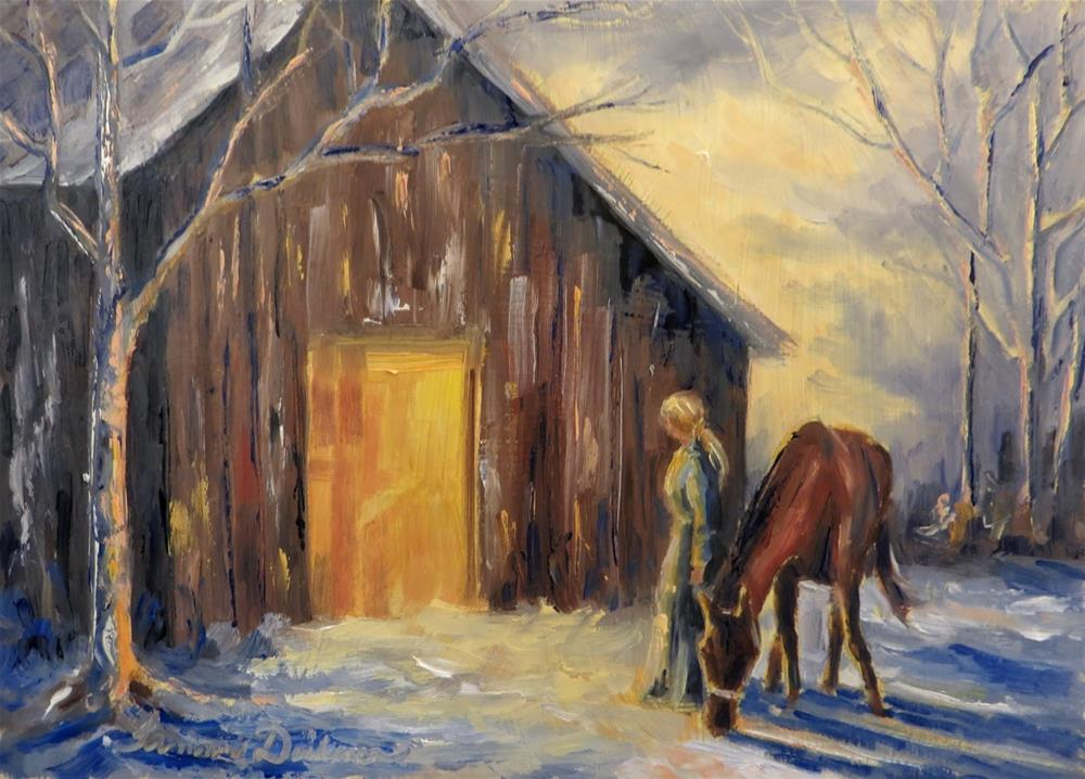 """""""Back to the Barn"""" original fine art by Tammie Dickerson"""