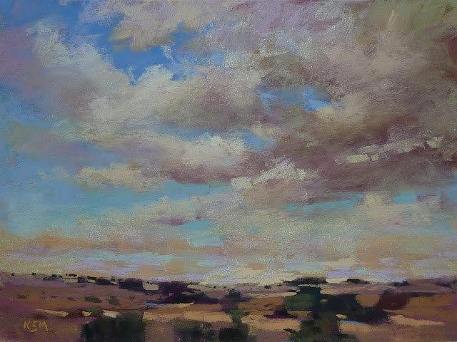 """""""Sky Painting Tip #5 Adding Sparkle to your Clouds"""" original fine art by Karen Margulis"""