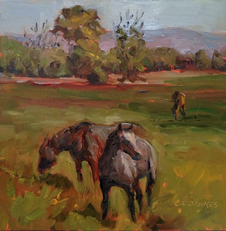 """Colorado Horses, Day 26"" original fine art by Claudia L Brookes"
