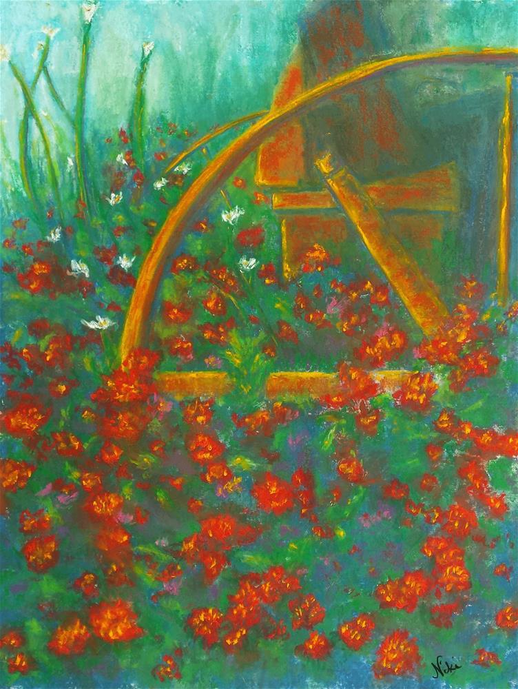 """""""Dusky Marigolds"""" original fine art by Niki Hilsabeck"""