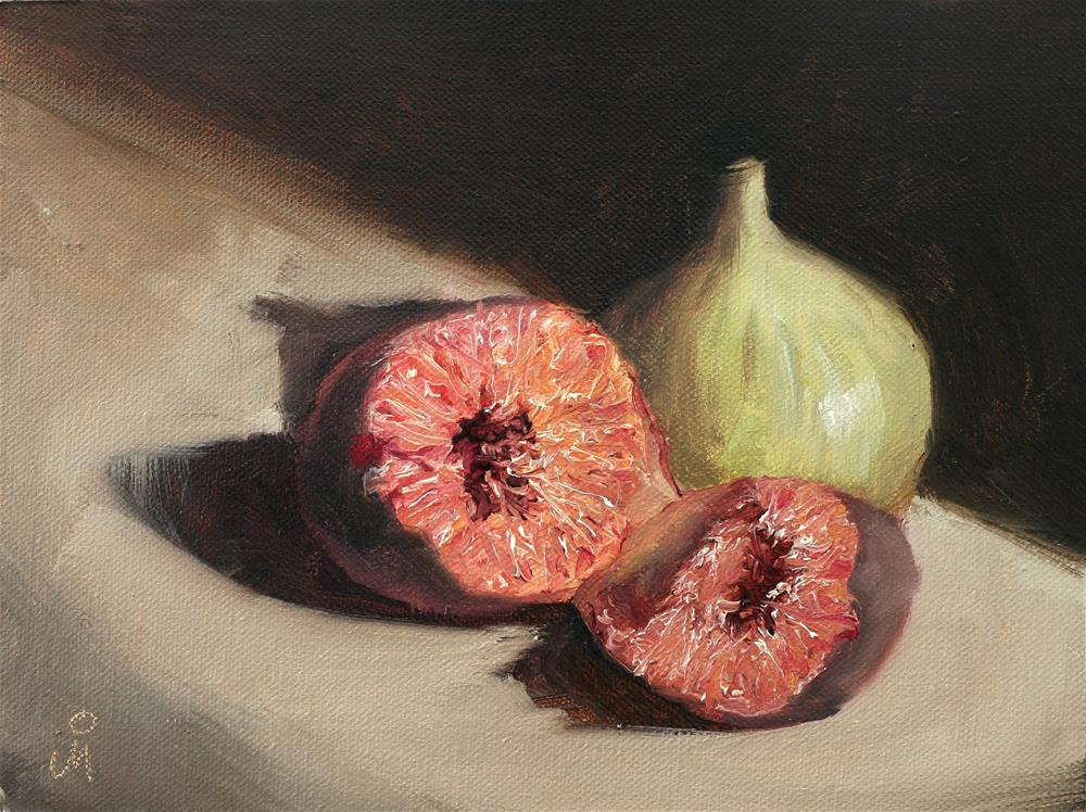 """Two Figs"" original fine art by Mandar Marathe"