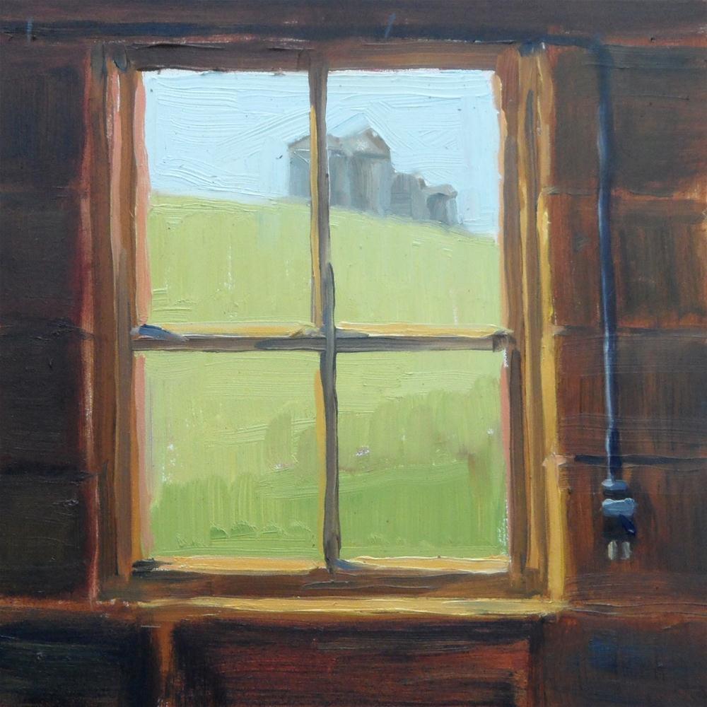 """From inside the Old Barn"" original fine art by Deborah Newman"