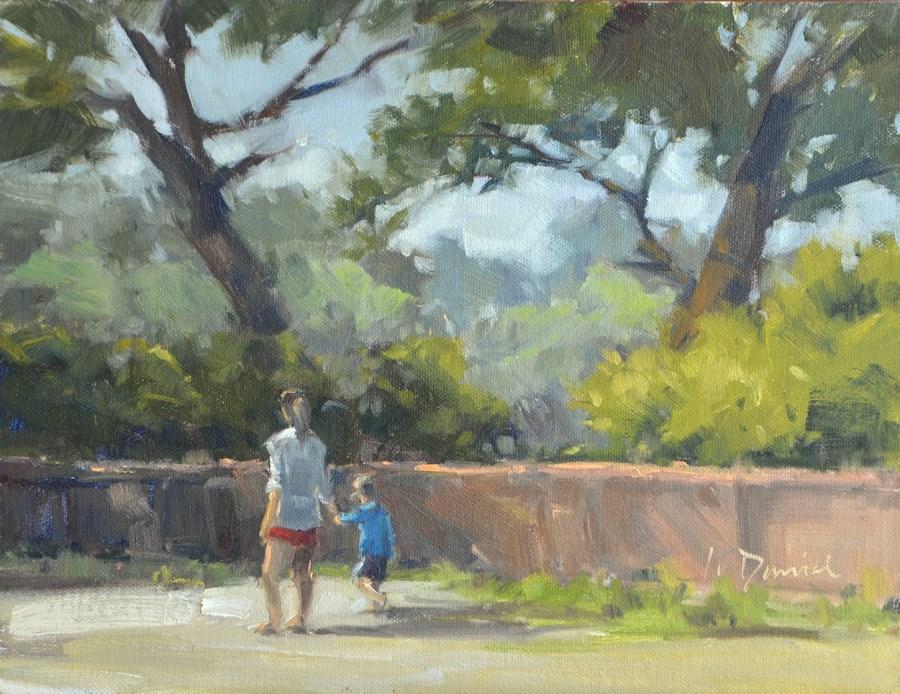 """""""Morning Stroll - Georgia Coast"""" original fine art by Laurel Daniel"""