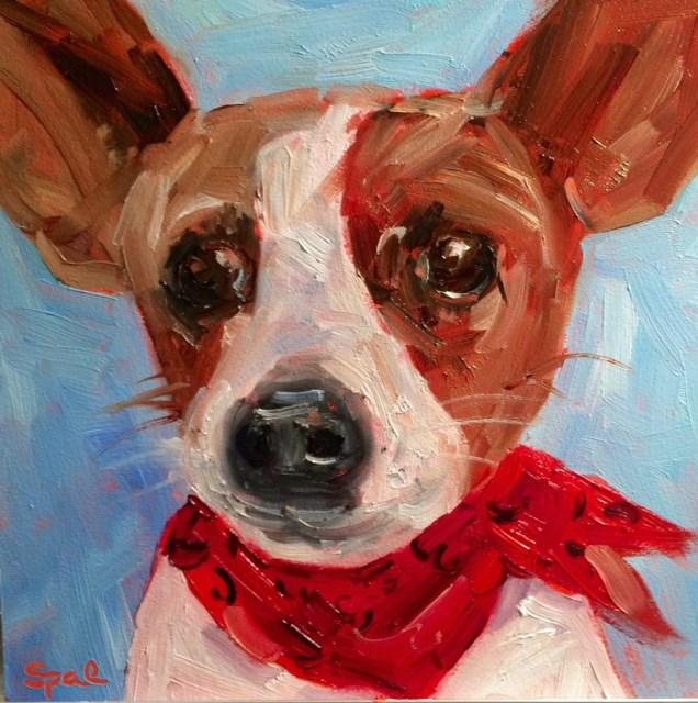 """T-Bone"" original fine art by Suzy 'Pal' Powell"