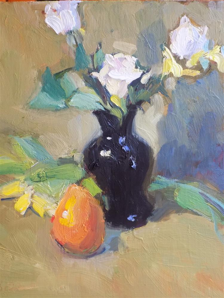 """The Black Vase"" original fine art by Rita Brace"
