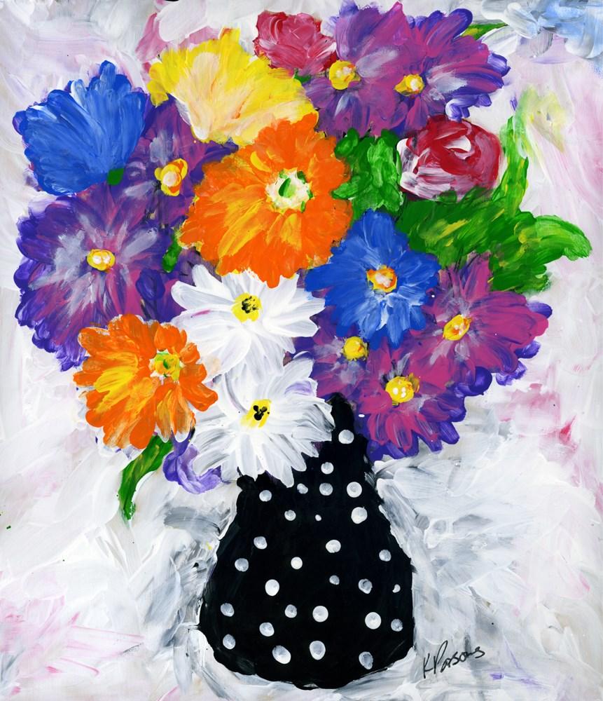 """""""Burst of Color"""" original fine art by Kali Parsons"""