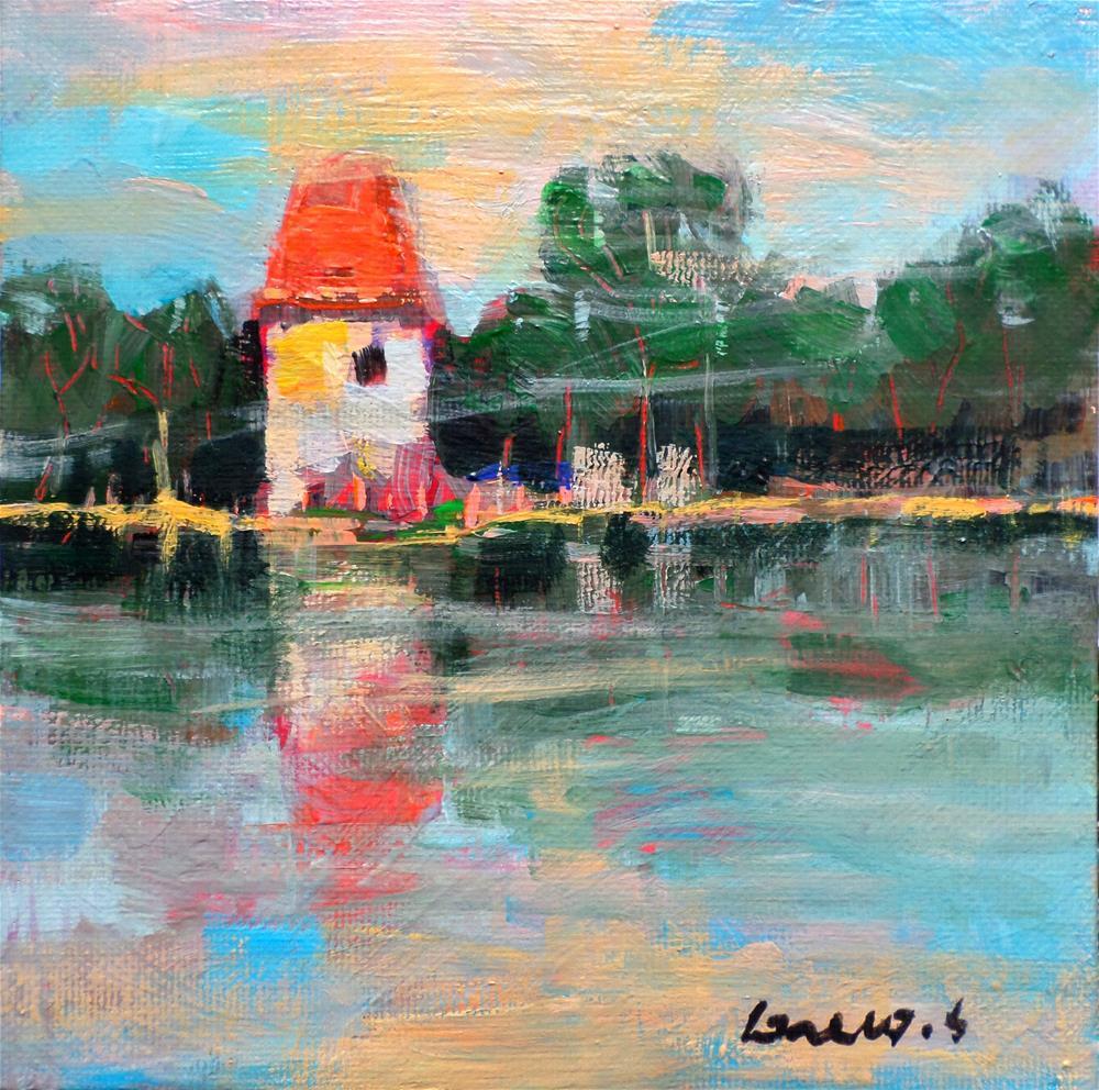 """House waterfront"" original fine art by salvatore greco"