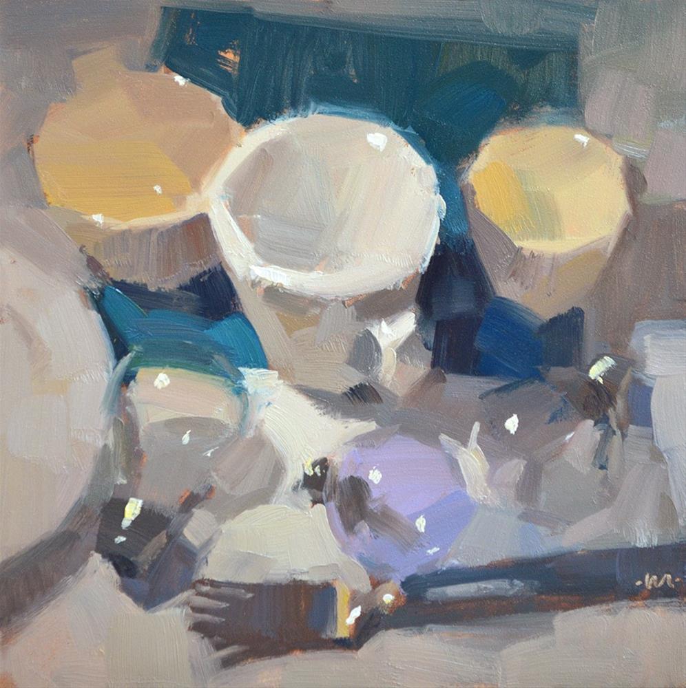 """Street Fight"" original fine art by Carol Marine"