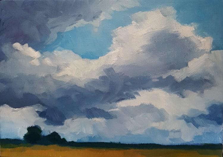 """Gently Drifting"" original fine art by J M Needham"