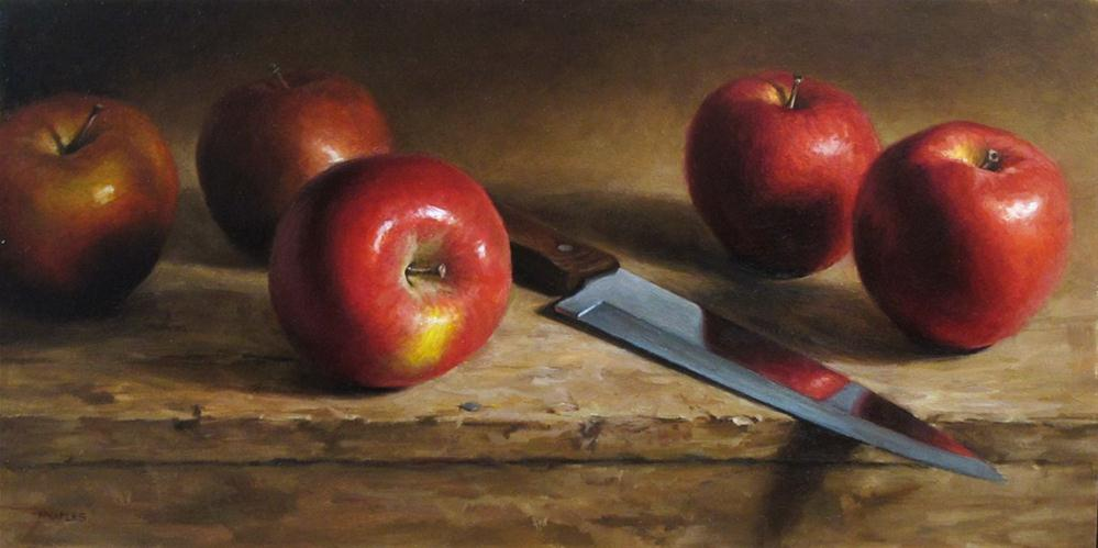 """Reflecting Apples"" original fine art by Michael Naples"