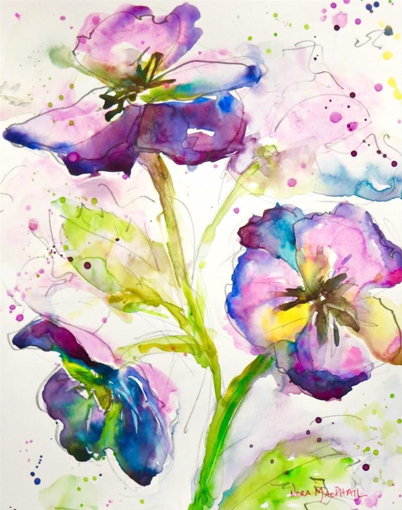 """""""magenta"""" original fine art by Nora MacPhail"""