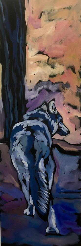 """Cold Shoulder"" original fine art by Kat Corrigan"
