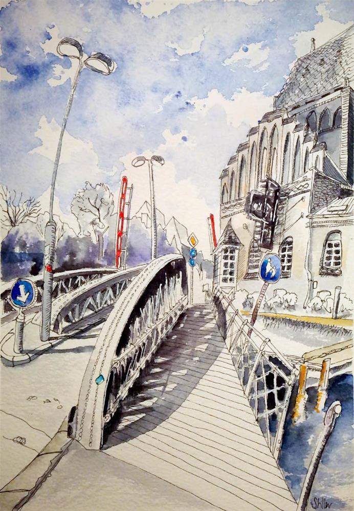 """3056 Swing Bridge"" original fine art by Dietmar Stiller"