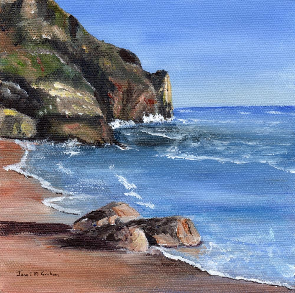"""Sea Cove"" original fine art by Janet Graham"