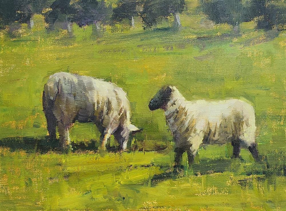 """In The Pasture"" original fine art by Barbie Smith"