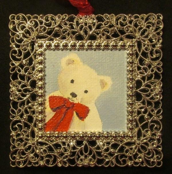 """""""Teddy Ornament"""" original fine art by Ruth Stewart"""