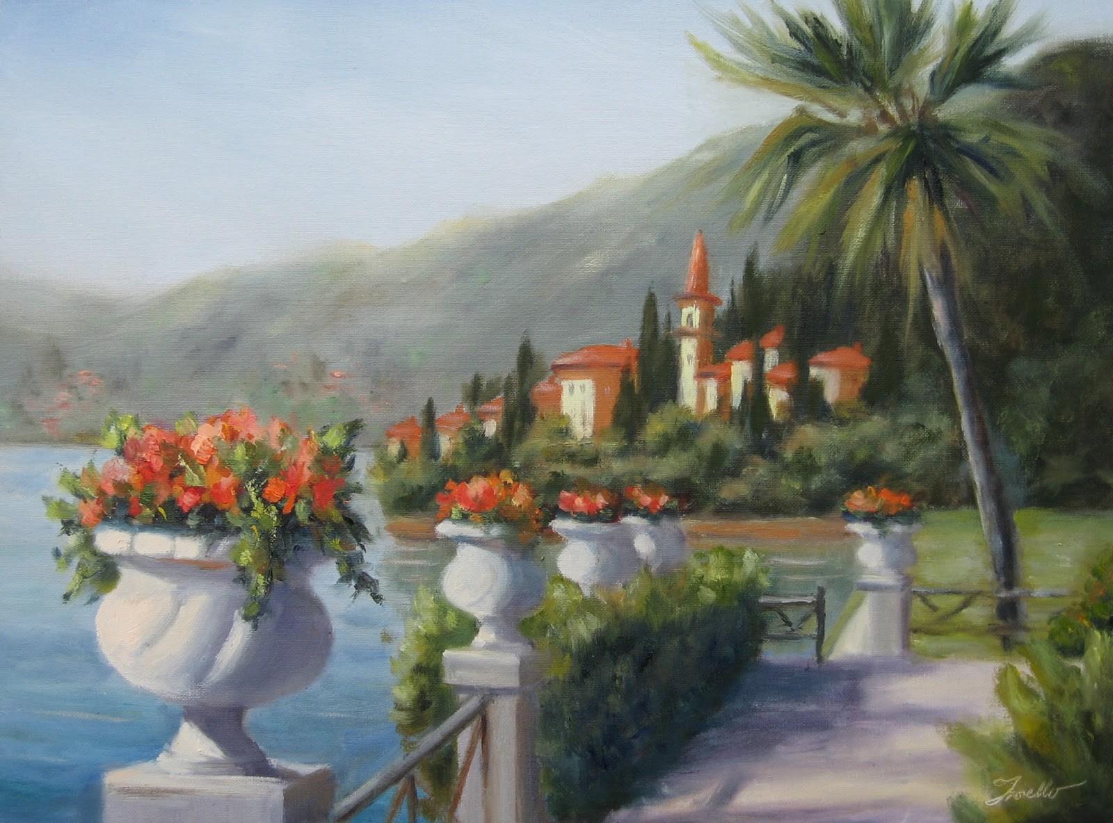 """""""Lake Como View"""" original fine art by Pat Fiorello"""