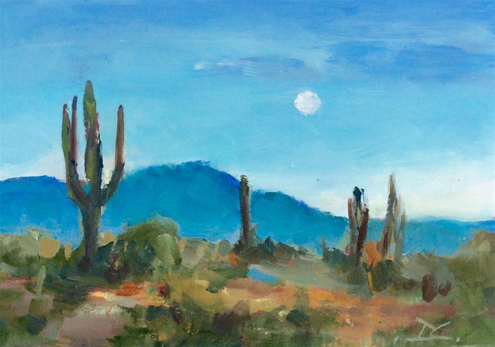 """""""ARIZONA BLUE"""" original fine art by Doug Carter"""