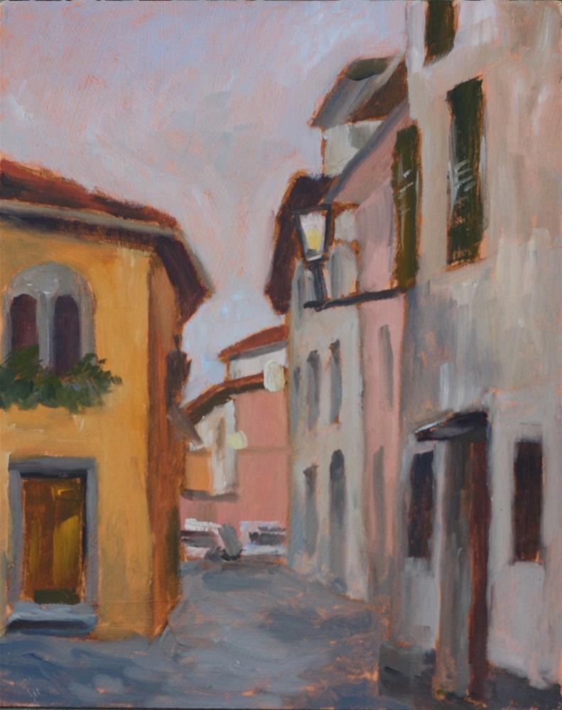 """""""Evening in the Vicolo del Pretorio"""" original fine art by Graham Townsend"""