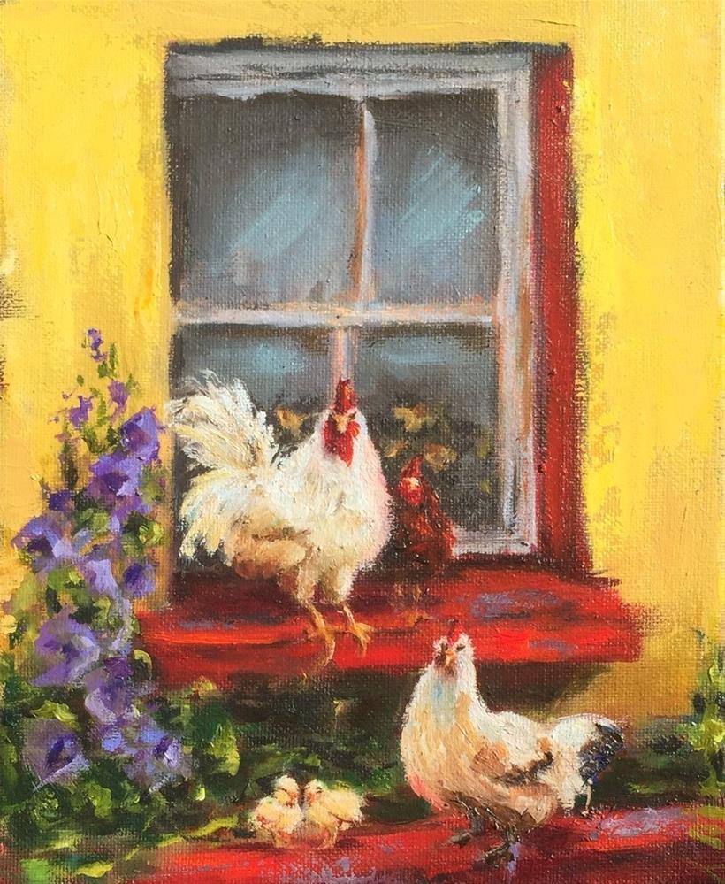 """""""Window Dressing"""" original fine art by Susie Monzingo"""