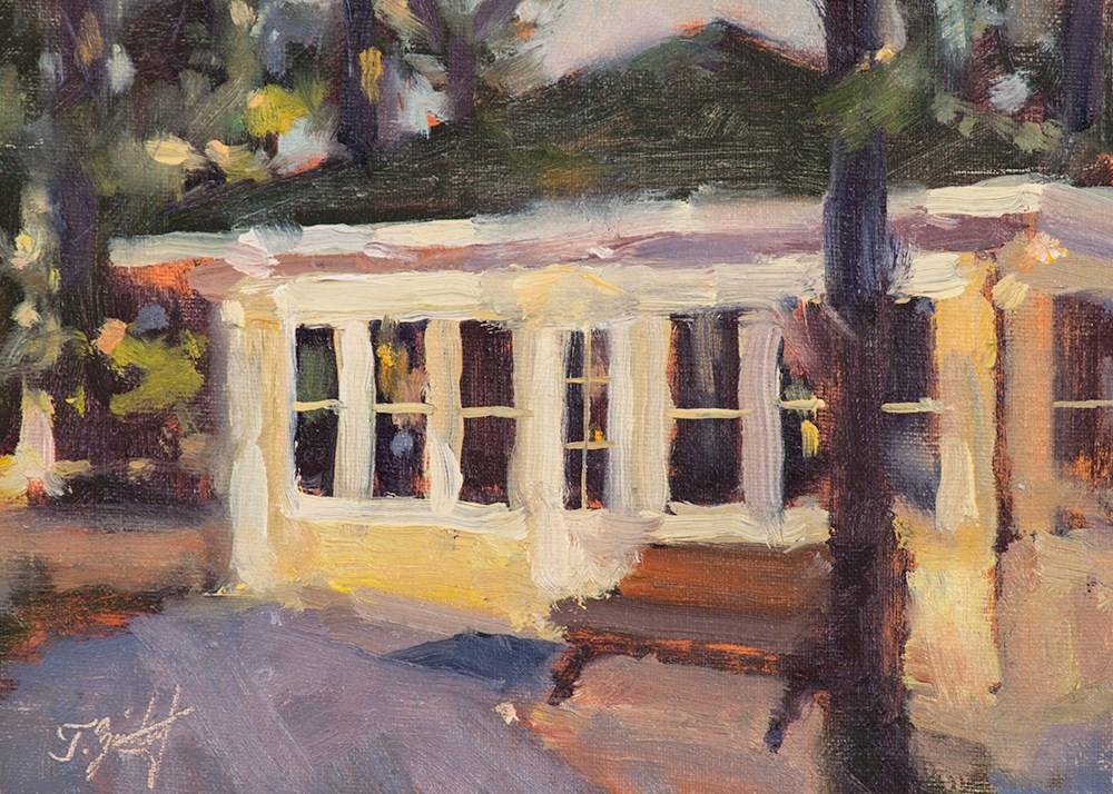 """Blue Lake Cottage"" original fine art by Todd Zuithof"
