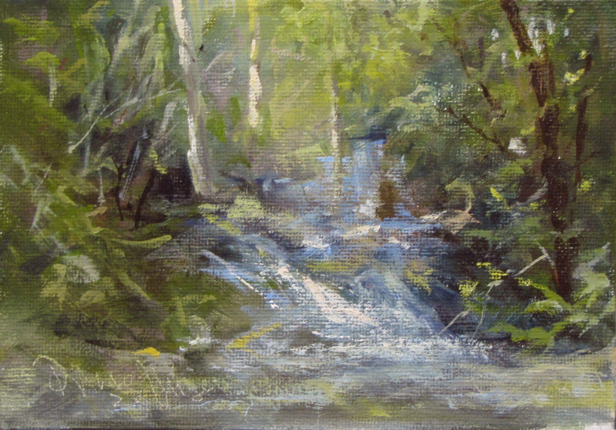"""Morning Impression"" original fine art by Dianne Mize"