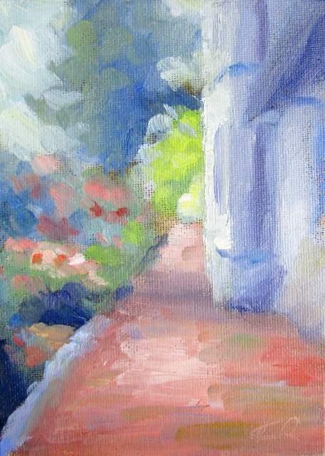 """Morning Walk in Georgetown"" original fine art by Keiko Richter"