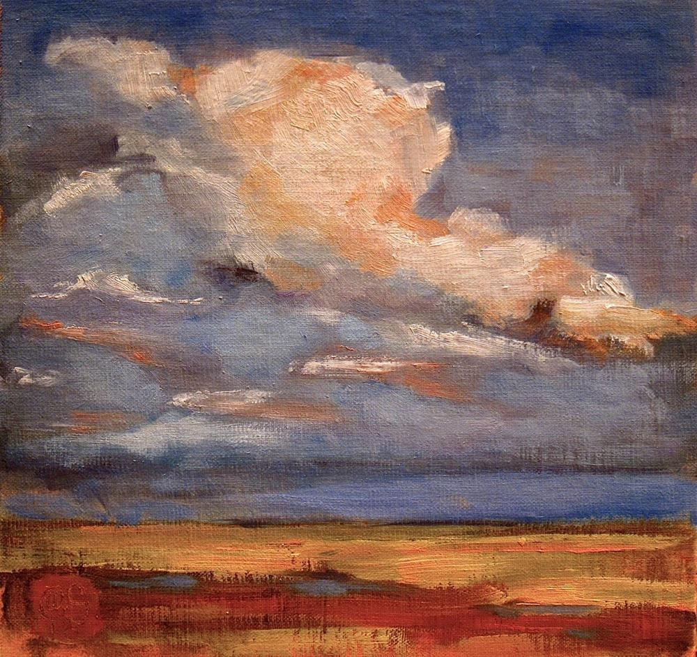 """The Stubble and the Sky"" original fine art by Aurelio Saiz"