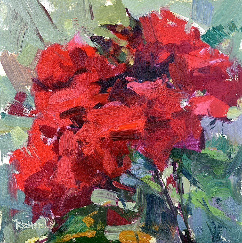 """Roses on the Porch"" original fine art by Cathleen Rehfeld"