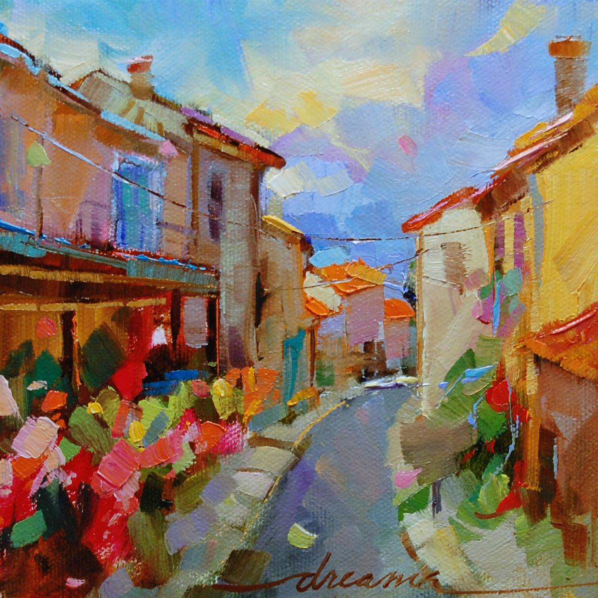 """""""A New Day in Italy"""" original fine art by Dreama Tolle Perry"""