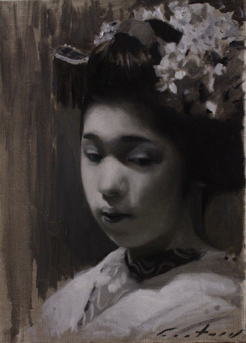 """Maiko Tonal Study"" original fine art by Phil Couture"