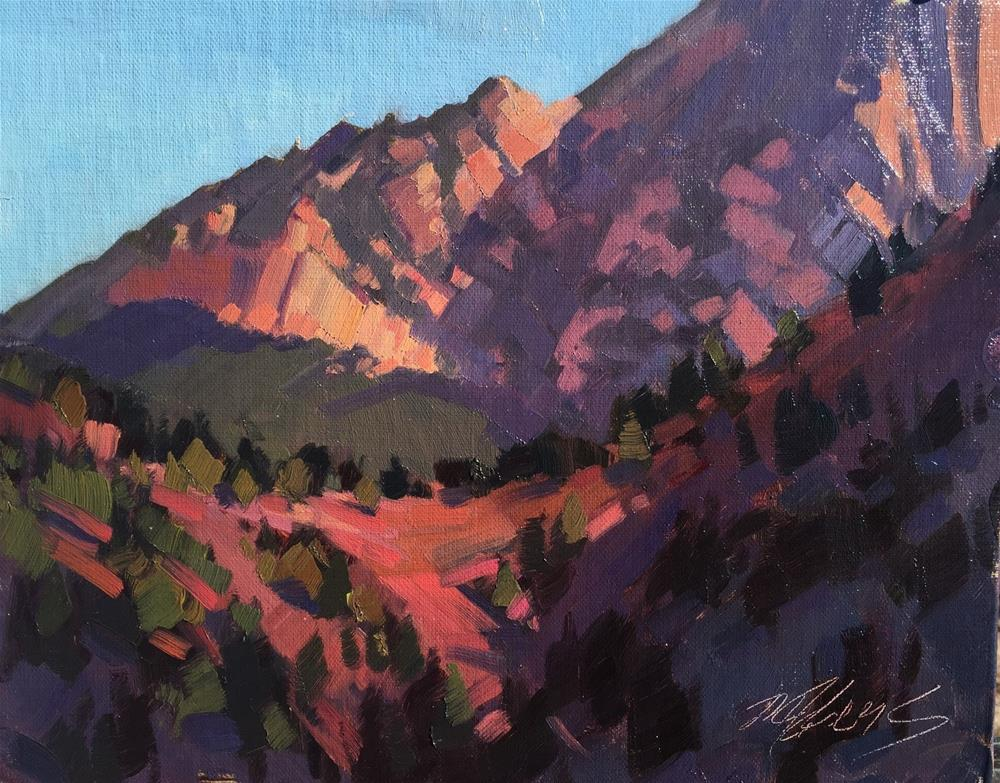 """Morning Highlights - Kolob Canyons"" original fine art by Mary Jabens"