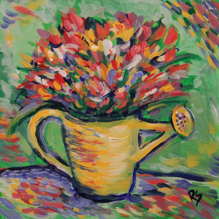 """Spring Garden"" original fine art by Roberta Schmidt"