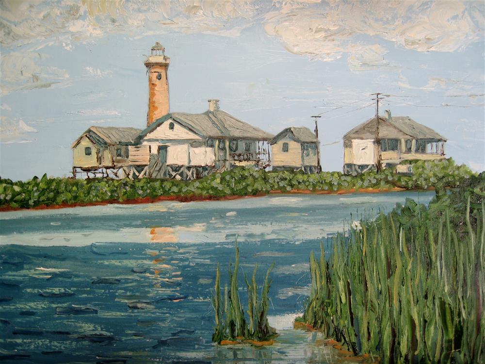 """Lydia Ann Lighthouse"" original fine art by Darryl Freeman"