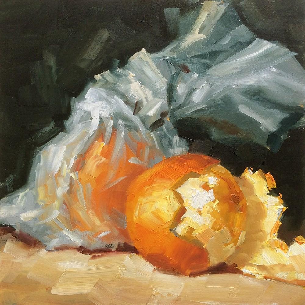 """ORANGES"" original fine art by Tom Brown"